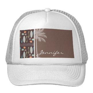 Tropical Surfboards & Hibiscus Trucker Hat