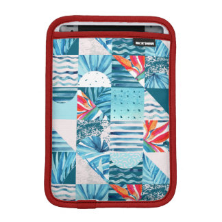 Tropical Teal Geometric Abstract Pattern iPad Mini Sleeve