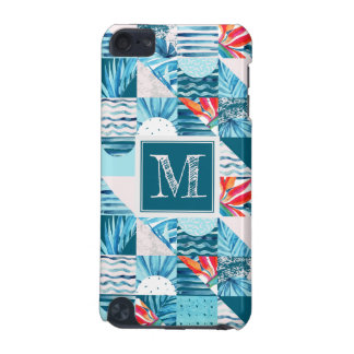 Tropical Teal Geometric Abstract Pattern iPod Touch (5th Generation) Cover