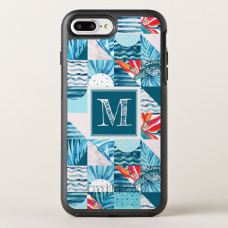 Tropical Teal Geometric Abstract Pattern OtterBox Symmetry iPhone 8 Plus/7 Plus Case
