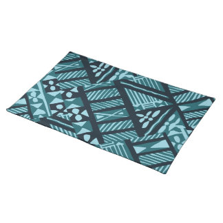Tropical Teal Tapa Cloth Placemat