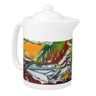 """TROPICAL"" TEAPOT"
