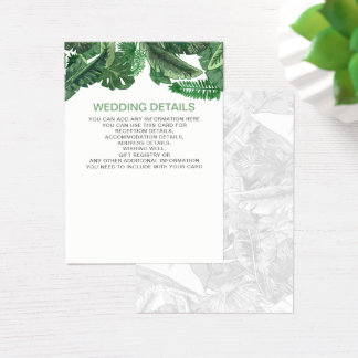 Tropical Terrain botanical greenery wedding cards