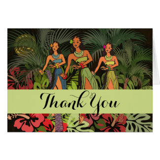 Tropical Thank You Hawaii Custom Template Artwork Card