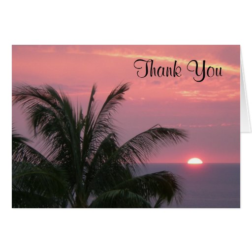 Tropical Thank You Notecard Card