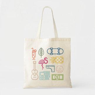 Tropical Theme Tote Bag