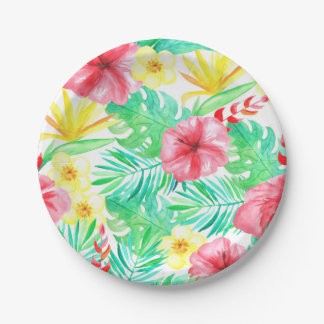 Tropical Themed Party Plates-Bridal Shower Paper Plate