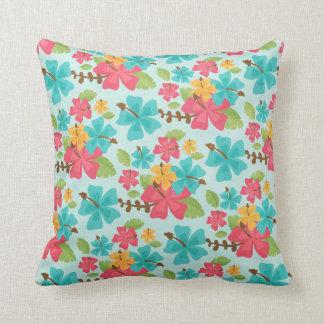Tropical Throw Pillow Hawaii Aloha Hibiscus Flower