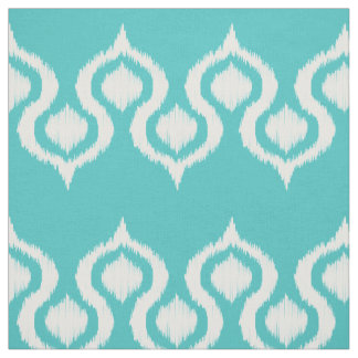 Tropical Tide Ikat Tribal Pattern Fabric