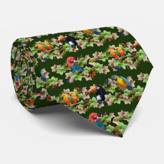 Tropical Tie Double Sided Print (Dark Green)