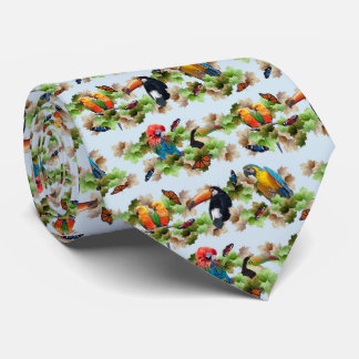 Tropical Tie Double Sided Print (Light Blue)