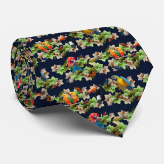 Tropical Tie Double Sided Print (Navy)