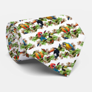 Tropical Tie Double Sided Print (White)