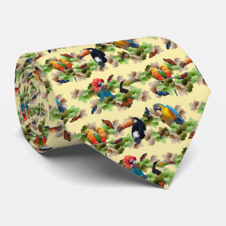 Tropical Tie Double Sided Print (Yellow)