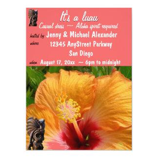 Tropical Tiki Luau Party 17 Cm X 22 Cm Invitation Card