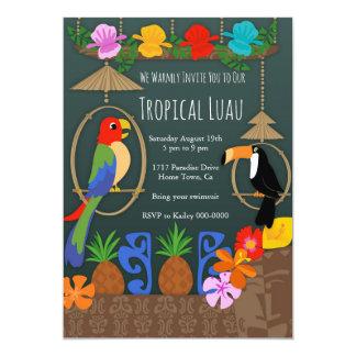 Tropical Tiki Party Initation Card