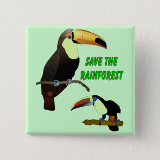 Tropical Toucan 15 Cm Square Badge