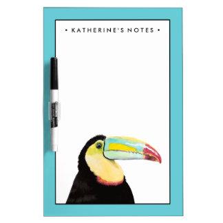 Tropical Toucan Bird Dry Erase Board