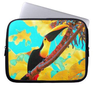 Tropical Toucan Bird Laptop Sleeve