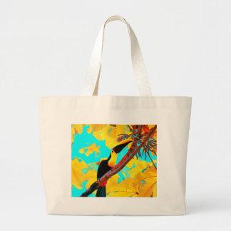 Tropical Toucan Bird Large Tote Bag