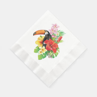 Tropical Toucan Coined Luncheon Paper Napkins