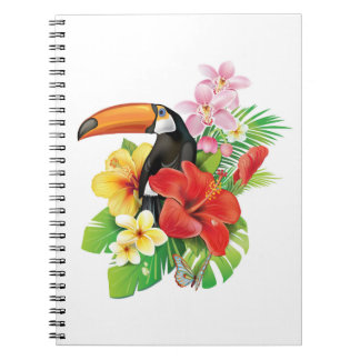 Tropical Toucan Collage Notebook
