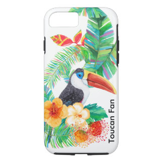 Tropical Toucan Fan Watercolor iPhone 8/7 Case