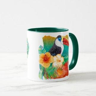 Tropical Toucan Fan Watercolor Mug