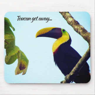 Tropical Toucan Get Away Mouse Pad