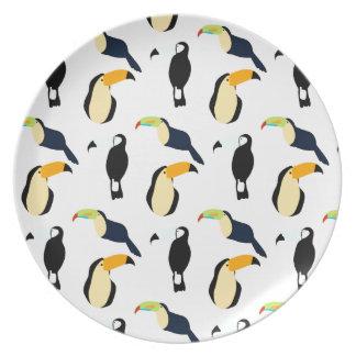 Tropical Toucans Plate