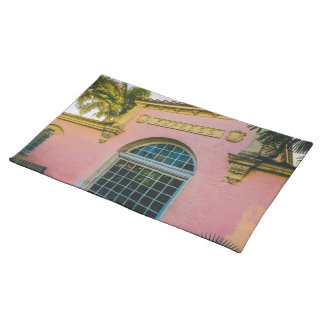 Tropical Train Station Placemat