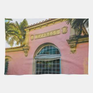 Tropical Train Station Tea Towel