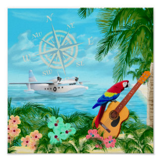 Tropical Travels Poster