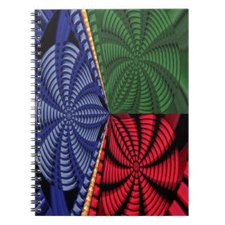 TROPICAL Tree Art Spiral Blink Vacation Trip FUN Spiral Note Book