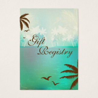 Tropical Turquoise Beach Gift Registry Cards