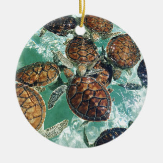 Tropical Turtles (Kimberly Turnbull Photography) Ceramic Ornament