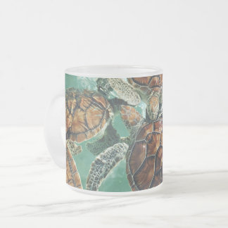 Tropical Turtles (Kimberly Turnbull Photography) Frosted Glass Coffee Mug