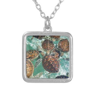 Tropical Turtles (Kimberly Turnbull Photography) Silver Plated Necklace