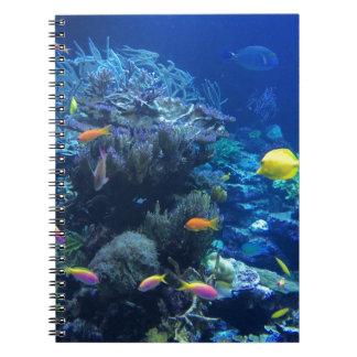Tropical underwater fish notebook