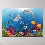 Tropical Underwater World Poster