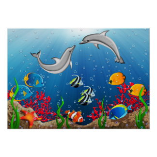 Tropical Underwater World Poster