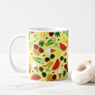 Tropical Vacation Seamless Pattern Coffee Mug