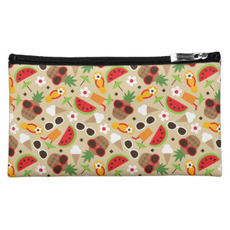 Tropical Vacation Seamless Pattern Cosmetic Bag