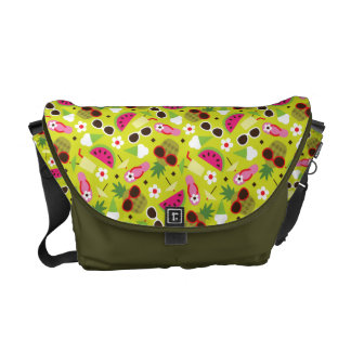 Tropical Vacation Seamless Pattern Messenger Bag