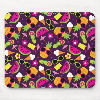 Tropical Vacation Seamless Pattern Mouse Pad