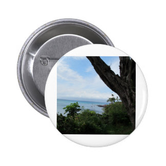 Tropical view of ocean pinback button