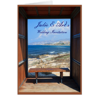 Tropical View Wedding Greeting Card