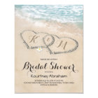 Tropical Vintage Beach Heart Bridal Shower Card