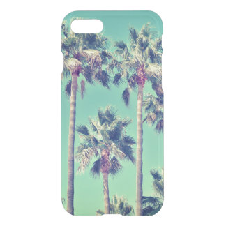 Tropical Vintage Palms against a Teal Sky iPhone 8/7 Case
