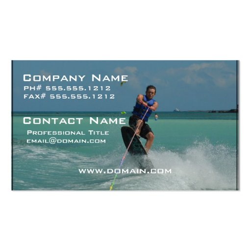 Tropical Wakeboarding Business Card